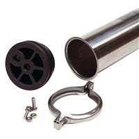 Membrane housing, 304 stainless steel, 4 x 40, 250 psi, 1/2 x 1/2