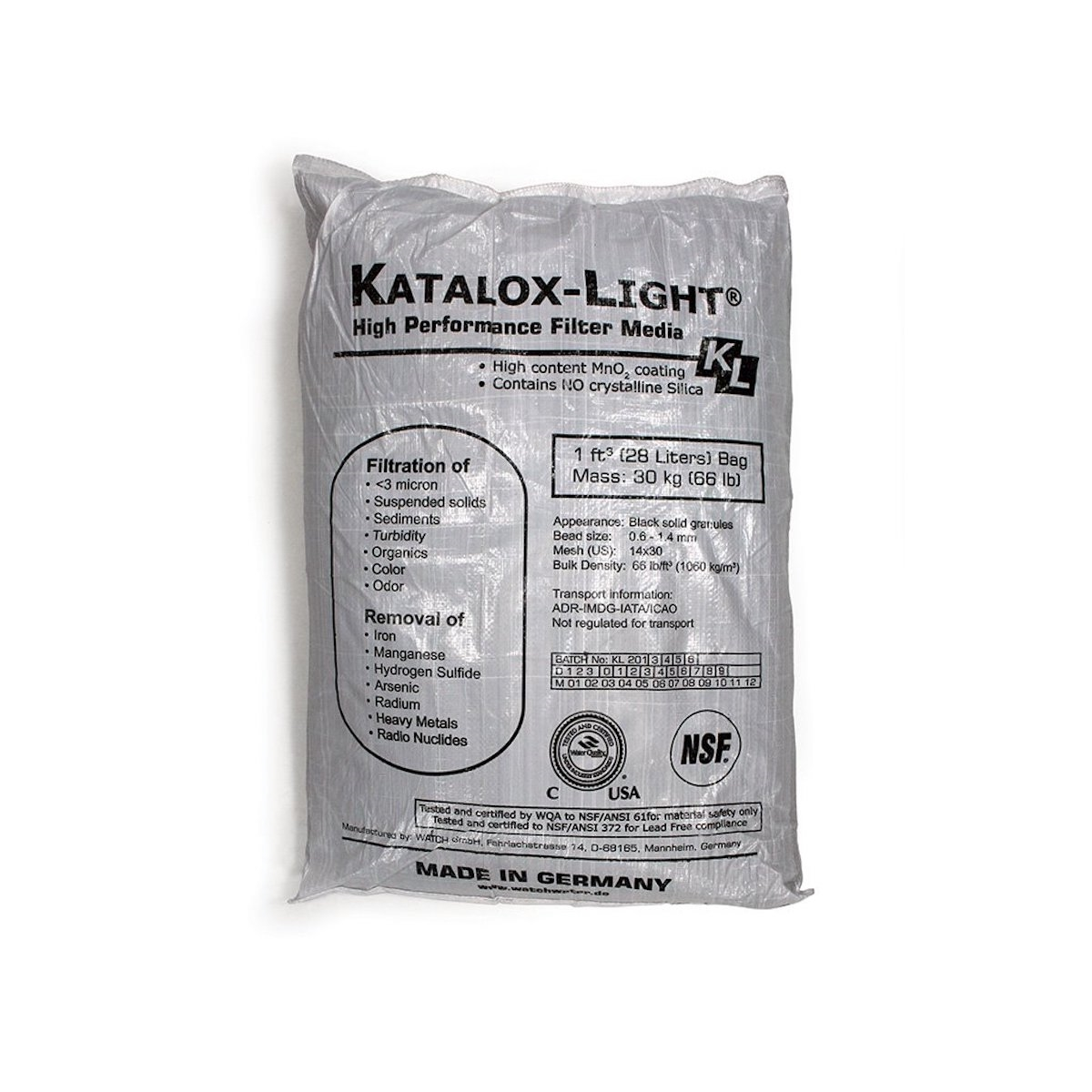 Katalox Light Filter Media 1 Cubic Foot Bag