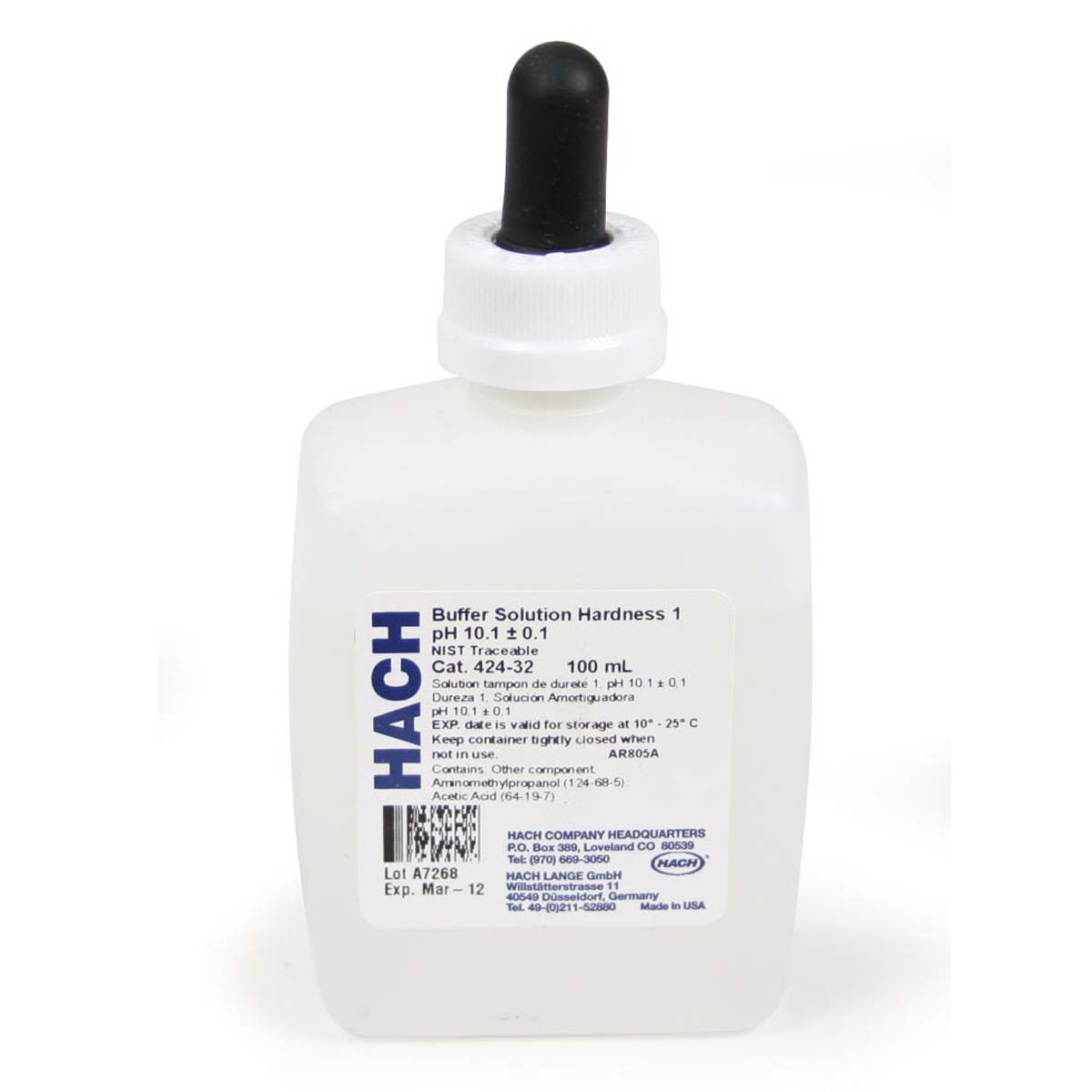 Hach Hardness 1 Buffer Solution 4 Oz