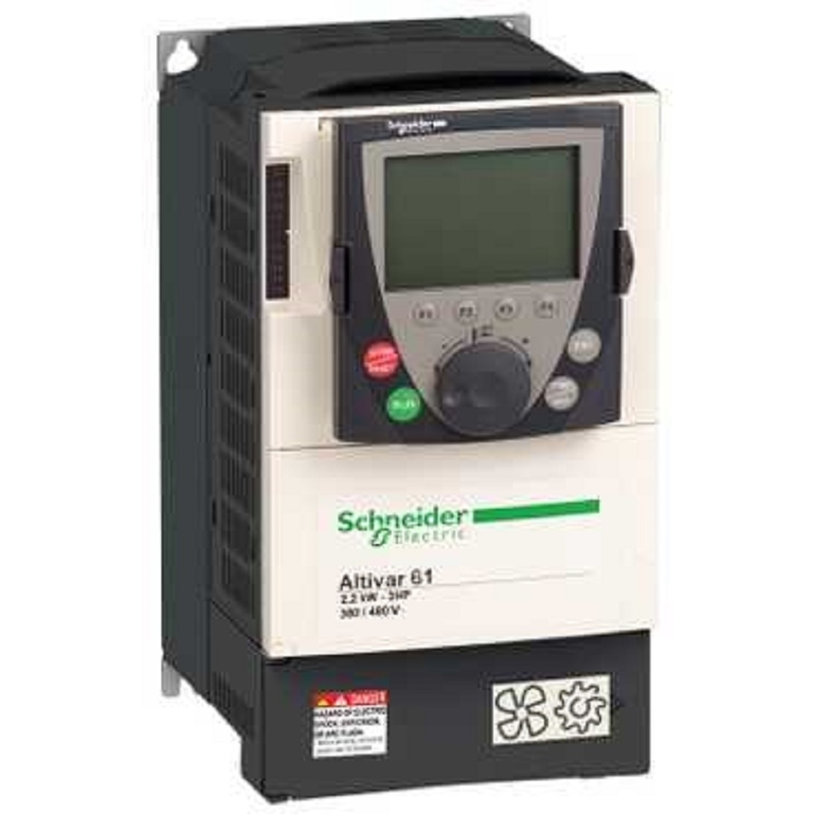 Schneider Electric Altivar 61 Variable Speed Drive With Lcd Keypad Phase Frequency Circuit 3 1hp 460v
