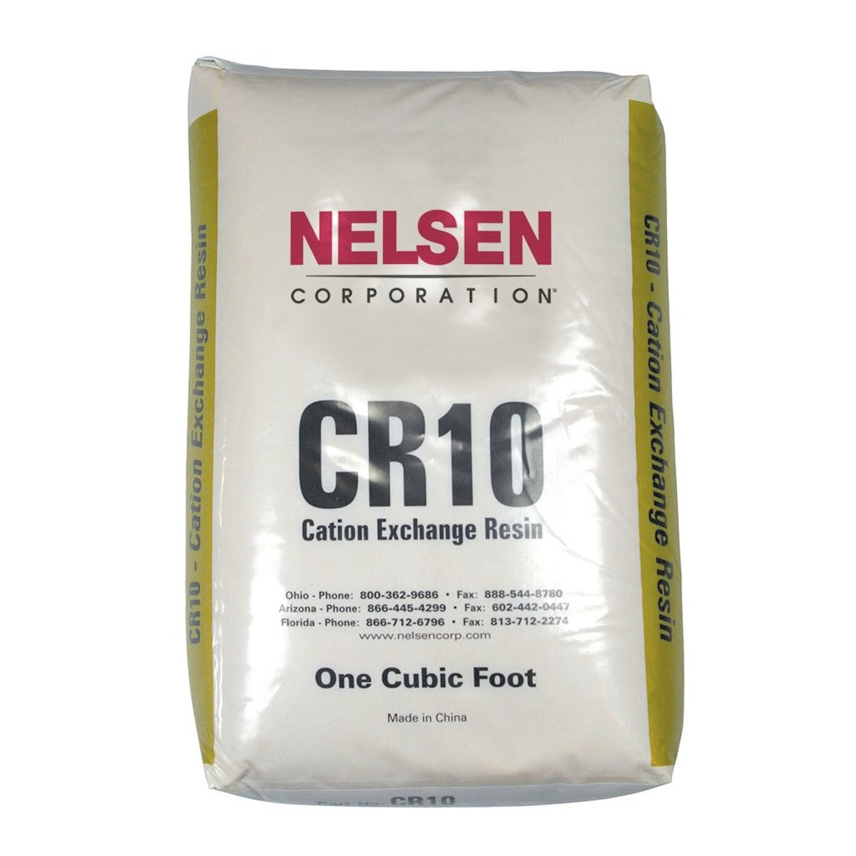 Cation Resin 10 Gold 1 Cubic Foot Bag