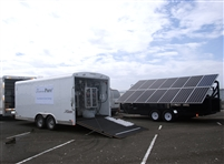 Solar Hybrid Powered Seawater Desalination + Bagging Trailer