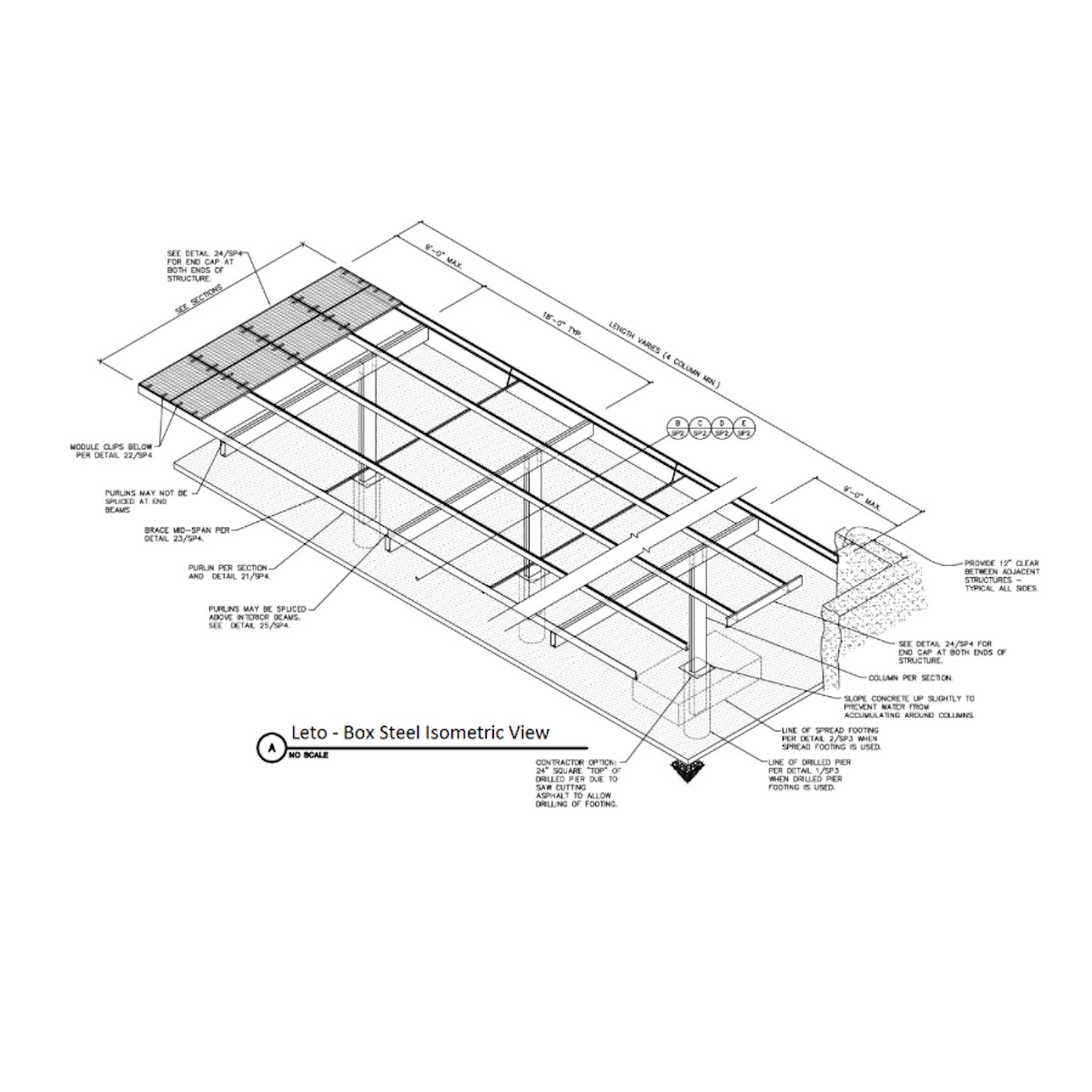 Orion Leto Double Column Single Cantilever Carport Wiring Diagram For Fluorescent Lights With
