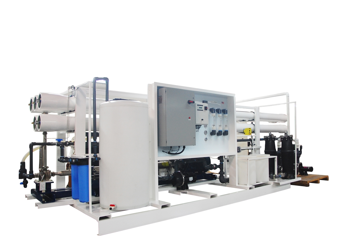 264,000 GPD Seawater Desalination System with Energy Recovery Turbine